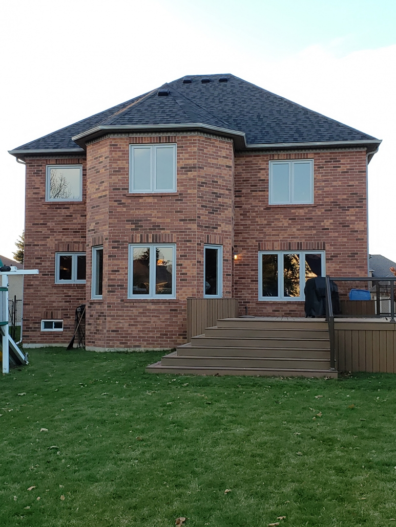 Energy efficient painted windows installed in Newmarket home by Simon and Sons proudly serving York Region