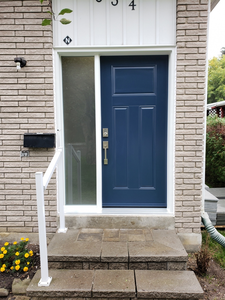 New front door steel with glass sidelite in Newmarket