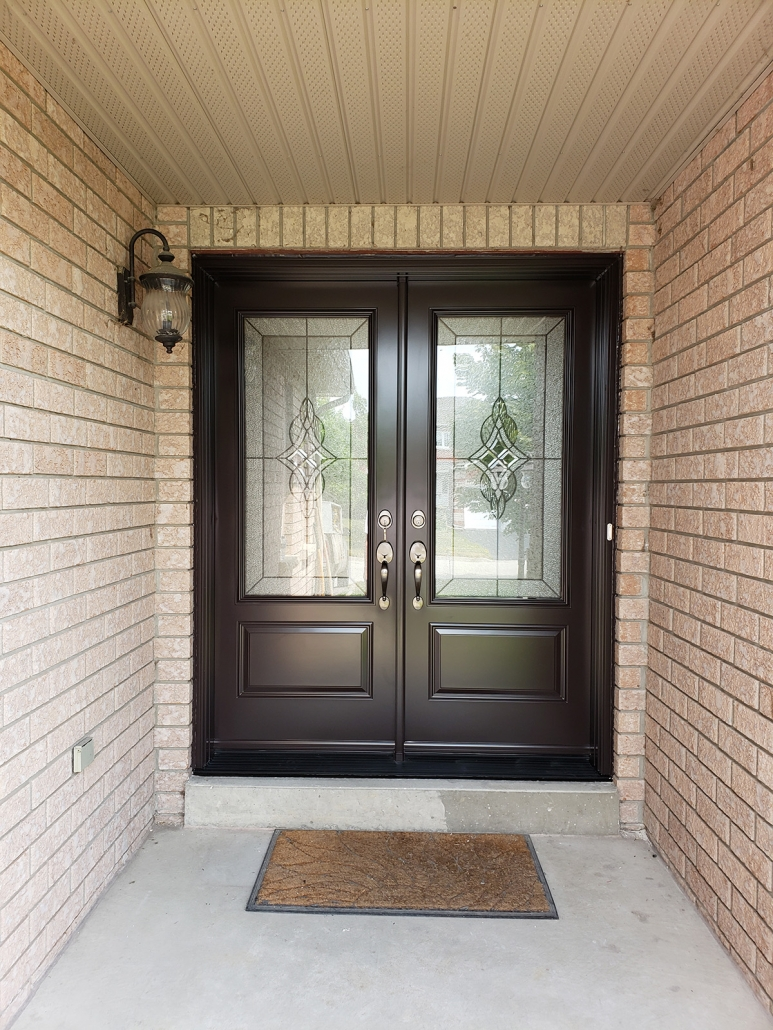 New double doors installed in Uxbridge by Simon and Sons proudly serving York Region